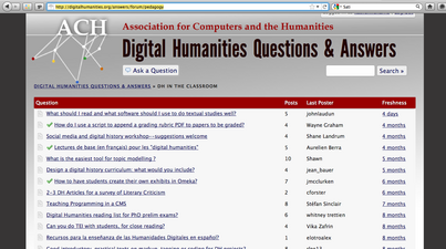 DH Answers & Pedagogy - Let's start here
