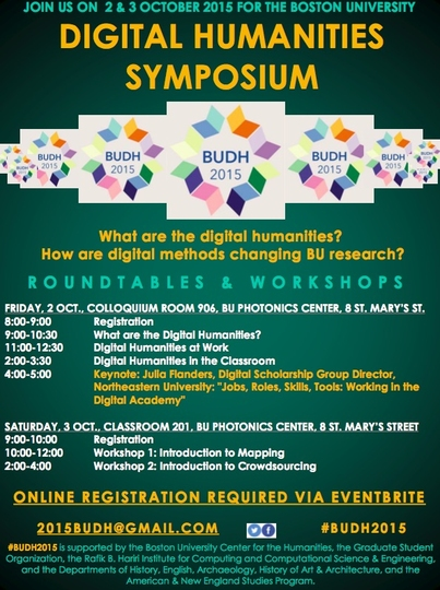 Boston University Digital Humanities Symposium 2015