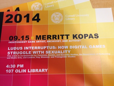 """Ludus Interruptus: How Digital Games Struggle with Sexuality"" by Merritt Kopas"