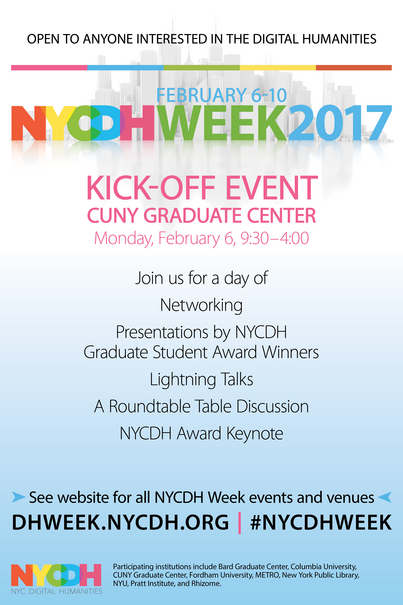 NYCDH Week February 6-10, 2017