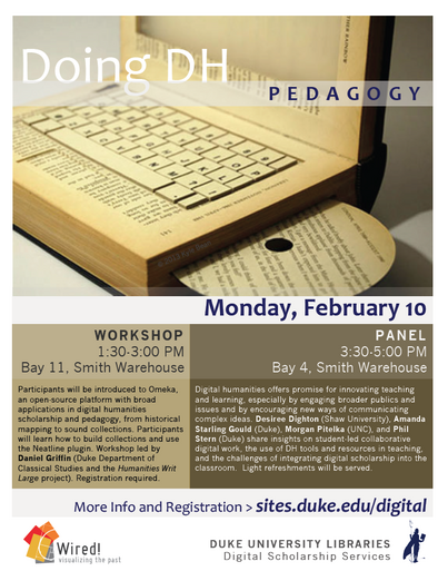 Doing DH at Duke: Digital Humanities Pedagogy Workshop and Panel