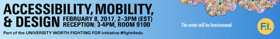 Futures Initiative Accessibility Mobility & Design event banner image