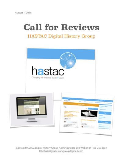Call for Digital History Reviews