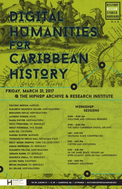 Digital Humanities for Caribbean History: a History Design Studio Workshop