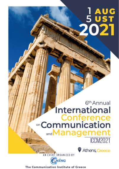 6th Annual International Conference on Communication and Management (ICCM2021)