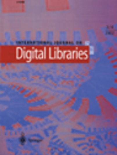 International Journal of Digital Libraries: Special Issue on Digital Scholarship