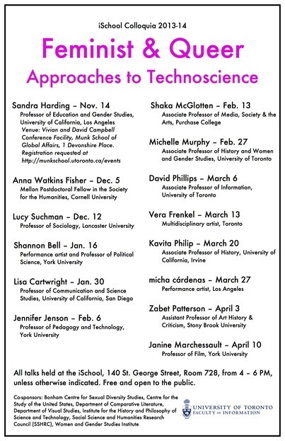 Feminist & Queer Approaches to Technoscience