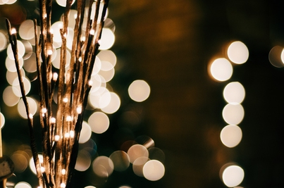 Decorative photo of bokeh lights