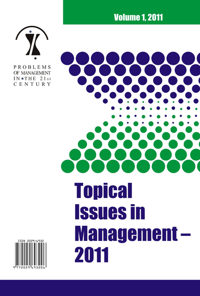 CFP - Problems of Management in the 21st Century