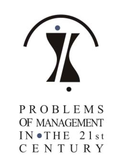 Problems of Management in the 21st Century. Information 15CFP PMC 2016