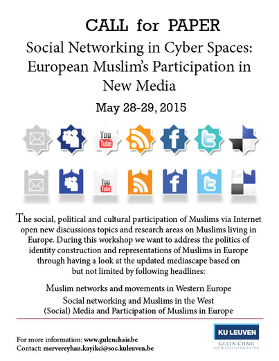 Call for Paper: Social Networking in Cyber Spaces: European Muslim's Participation in (New) Media