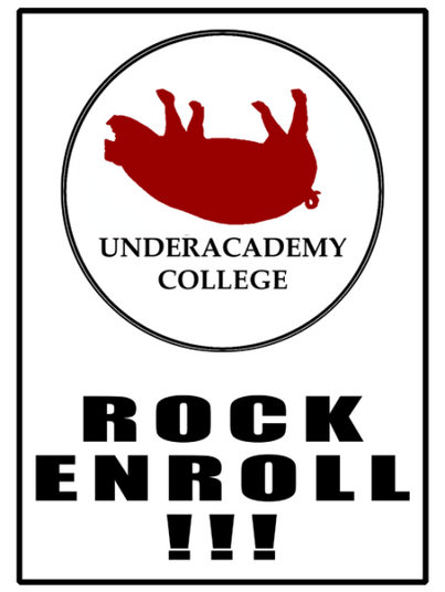 The UAC Rock Enrollment Logo
