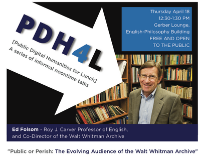 Talk: Public or Perish: The Evolving Audience of the Walt Whitman Archive
