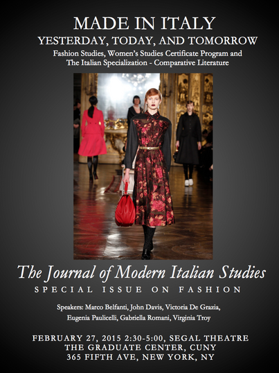 Italian Fashion: Yesterday, Today and Tomorrow — Publication and Event