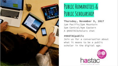Twitter Chat: Public Humanities and Public Scholarship