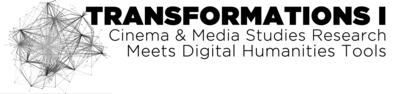Transformations I: Cinema & Media Studies Research Meets Digital Humanities Tools conference