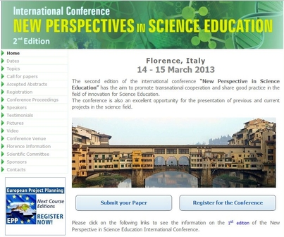 International Conference New Perspective in Science Education