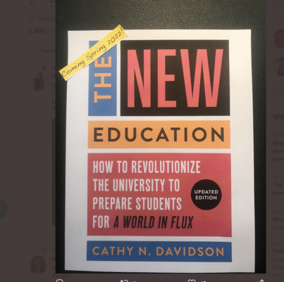 Announcing Upddated Edition of The New Education (Coming Spring 2022)