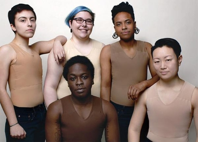 Image of five gender nonconforming individuals wearing binders.