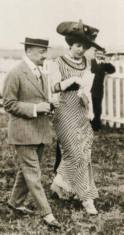 Gabriele d'Annunzio and Rubinstein of the Ballets Russes
