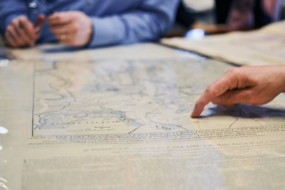 NYPL Mapping Division and NYPL Labs Visit: Photo Essay