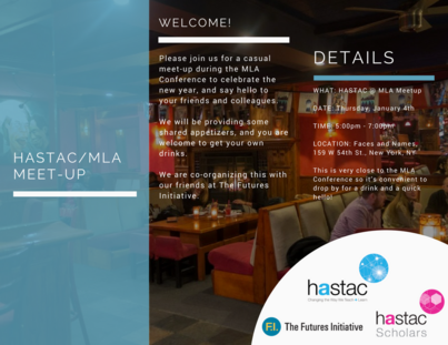 2018 MLA HASTAC Happy Hour!