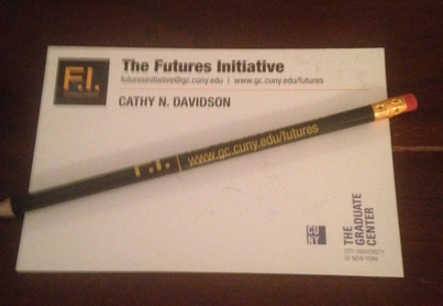 Pencil and pad with Futures Initiative letterhead