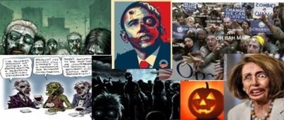 Obama as a Zombie with a Bullet in His Head: Discuss