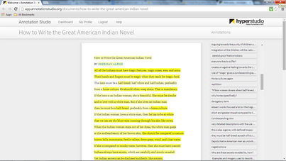 Collaborative Annotation: Teaching Close Reading with the MIT Annotation Studio