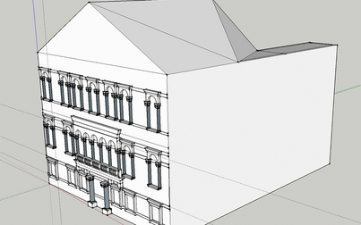 3D modeled Venetian palace