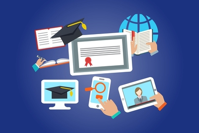 Animated picture of online education