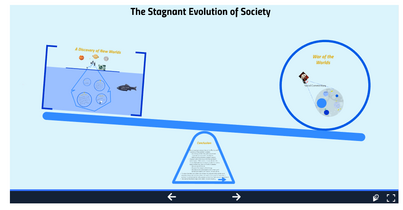This is a screen shot of student essay that was created using Prezi.