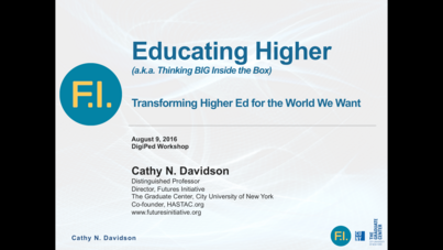 """Resources on """"Educating Higher"""": Keynote and Links to my #DigPed Keynote"""