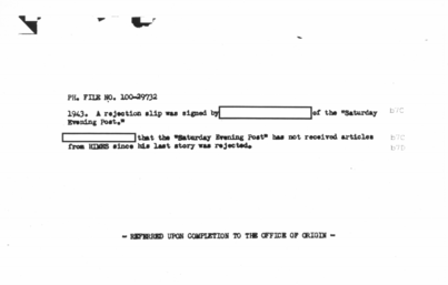 Image from the FBI file of Chester Himes