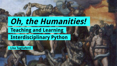 Oh, the Humanities Title Slide with Michelangelo's Last Judgement