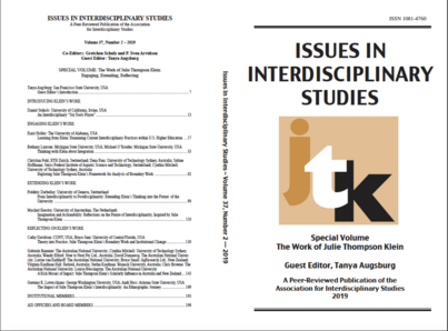 Theory Into Practice and the Interdisciplinary Work of Julie Thompson Klein