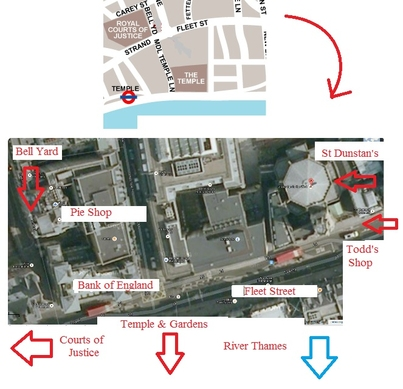 Draft Maps of Sweeney Todd's London