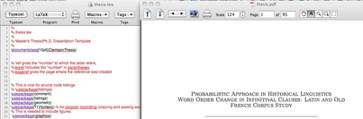 Writing Thesis with LateX