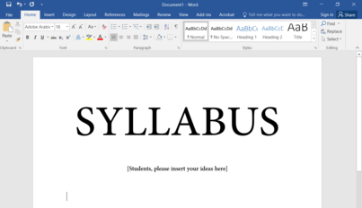 A Lesson Plan for Democratic Co-Creation: Forging a Syllabus by Students, for Students