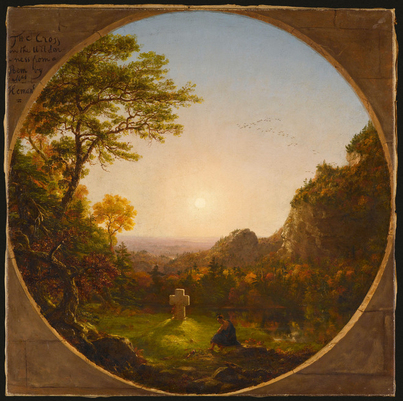 Idealized Memory in Thomas Cole's Cross in the Wilderness