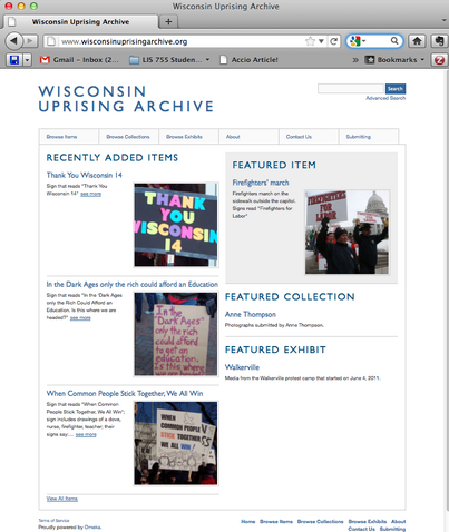 The Wisconsin Uprising Archive and the Importance of Digital Media Curation in Resistance