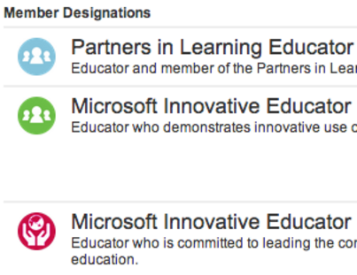 Partners in Learning Network Badges