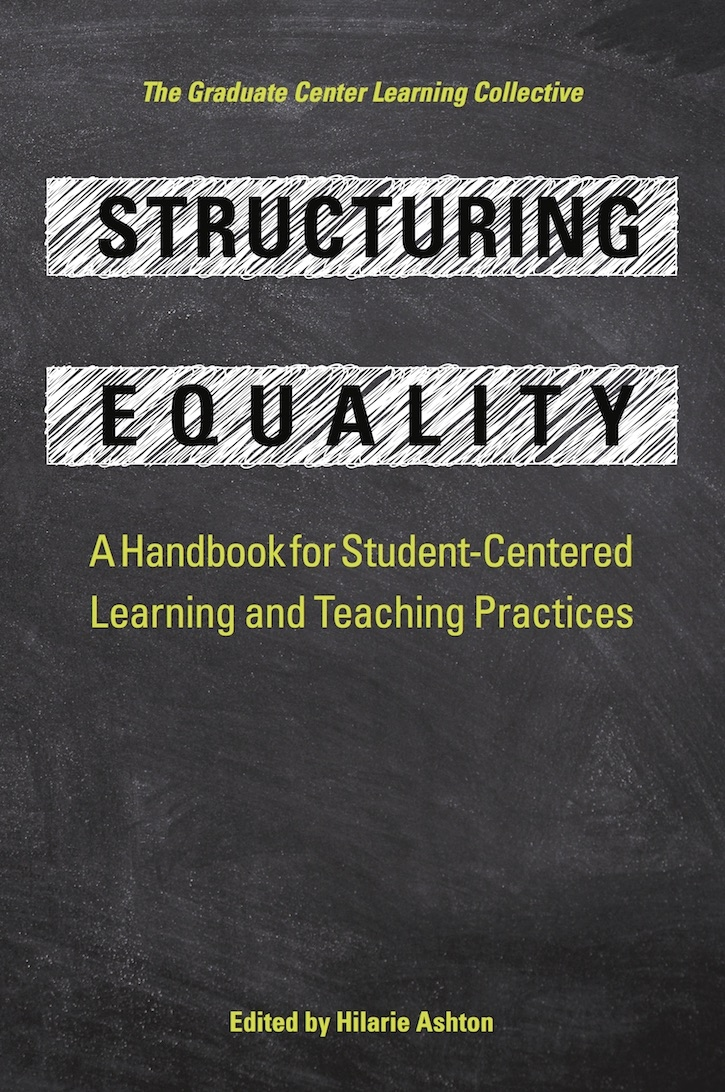 Book Cover for Structuring Equality - chalk and chalkboard motif