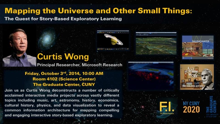 """Storify: """"Mapping the Universe and Other Small Things"""" with Principal Microsoft Researcher Curtis Wong"""