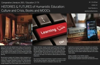 "Syllabus for ""Histories and Futures of Humanistic Education: Culture and Crisis, Books and MOOCs"""