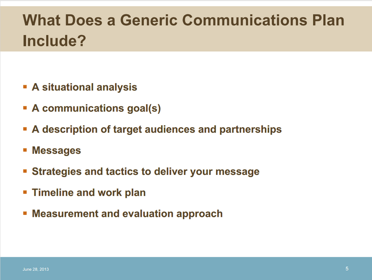 Developing a Communications Plan with Allison Davis from GMMB - DML Badges webinar