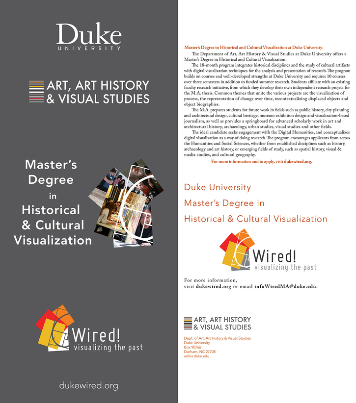 Master's Degree in Historical & Cultural Visualization