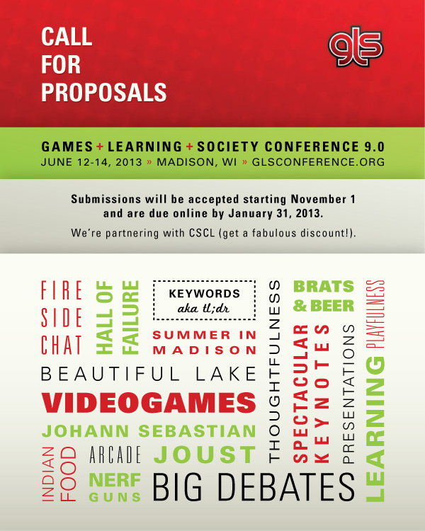 Games+Learning+Society Conference 9.0 CFP
