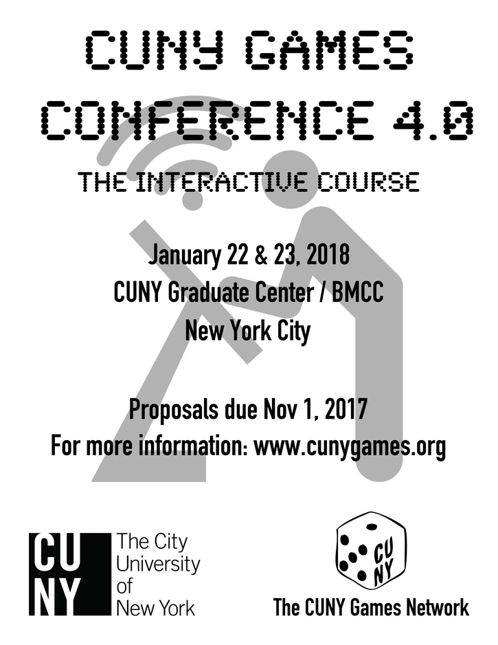 CFP CUNY Games Conference 4.0 (January 22-23, 2018)