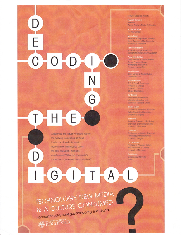This coming fall: Decoding the Digital-Technology, New Media, and A Culture Consumed